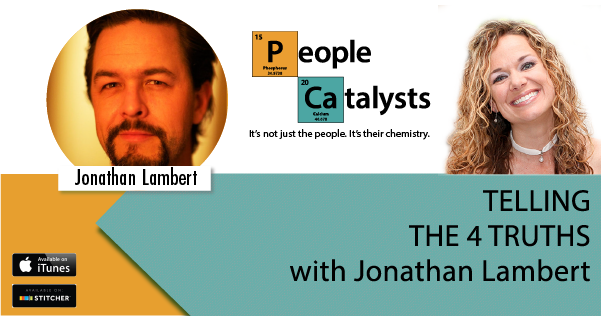 """Graphic with photos of Jonathan Lambert and Karla Nelson. Text: """"Telling The 4 Truths with Jonathan Lambert"""""""