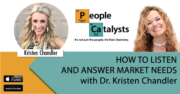 Images of Kristen Chandler and Karla Nelson...Title: HOT TO LISTEN AND ANSWER MARKET NEEDS